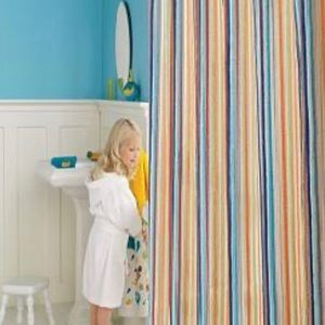 Jumping Beans Rainbow Striped Shower Curtain